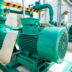 Centrifugal pump and motor in power plant